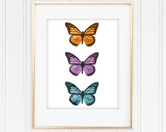 Watercolor Butterfly Printable - 8x10 Digital Download