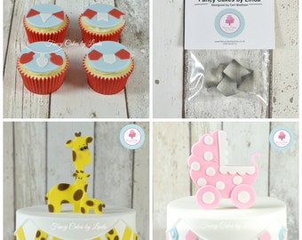 Fancy Cakes by Linda SMALL Bunting Cutter Set (set of 4 designs) Perfect for Sugarcraft Cake Decorating