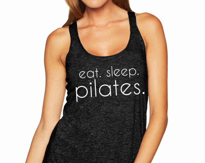 Eat. Sleep. Pilates. Racerback Tank Top