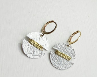 Keena Earrings | Aluminum and brass