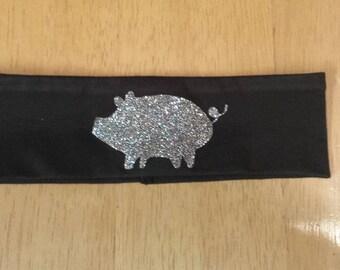 Glitter pig headband