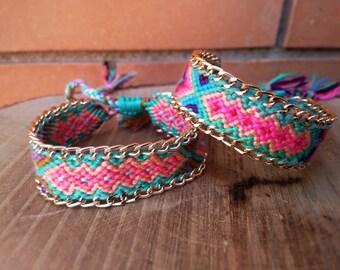 Braided Bracelet - Friendship Bracelet - Gypsy Jewelry - Lucky Bracelet - Friendship Bracelet
