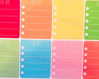 8 Pastel To Do Lists  - Planner Stickers for Erin Condren Life Planners