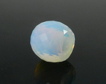 On sale - 2 pcs - Opalite hydro - 11*13mm - Barrel - Facet Beads - 5mm Big hole - Large hole bead - bracelet - Gemstone - SHBD182