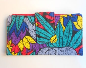 Fabric wallet/African fabric wallet/Cotton fabric wallet