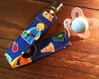 Under Construction Baby Boys Universal Pacifier Clip
