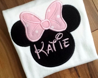 Minnie Mouse Birthday Shirt - Age can be Added