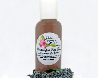 Lavender Infused Aloe – Lavender Aloe - 2 Oz - Real Lavender Aloe Vera Gel - Aloe Vera Leaf Gel with Lavender