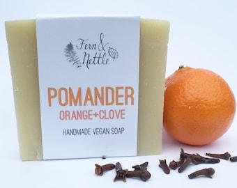 Pomander:  Orange + Clove Vegan Soap