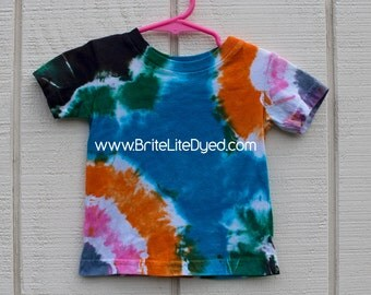 Tie Dye T Shirt-Children's 6 MONTHS-Tiedye T Shirt-Tyedye T Shirt-Tiedyed T Shirt-Hippy Baby-Hippie T Shirt-Boho Baby-Infant T Shirt-Shirt