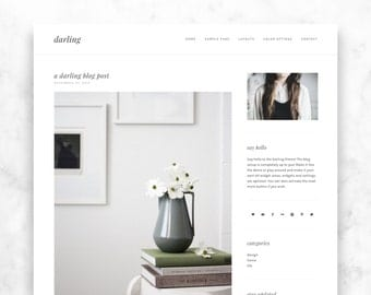 wordpress theme DARLING - a responsive, modern + minimalist wordpress template - blog design - premade