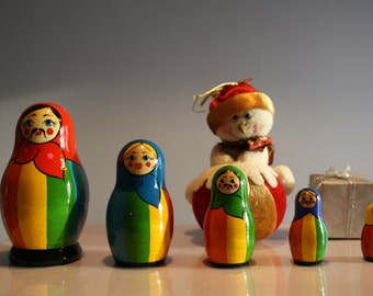Rainbow Russian doll