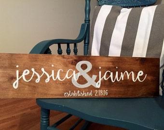 Wedding Sign Established Sign Bridal Shower Sign Wood Sign Custom Sign