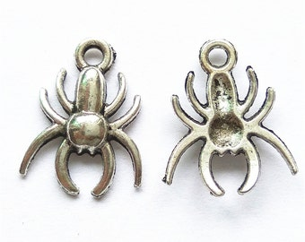 20pcs 14x17mm Spider Charm Pendant Findings A