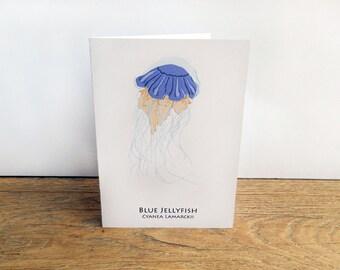 Blue Jellyfish Card