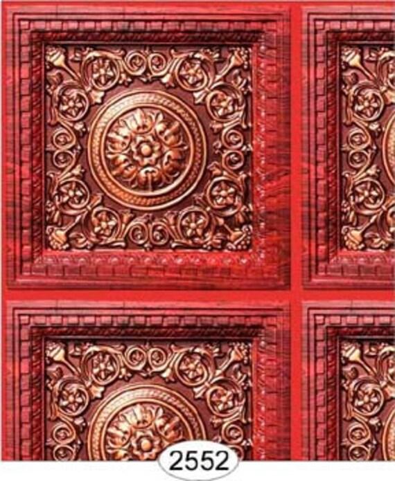 Dollhouse Ceiling Wallpaper: Dollhouse Miniature Wallpaper Ceiling Wall Panel Paper One