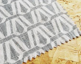 Upholstrey Fabric- Curtain fabric- Grey Fabric- Linen Fabric- Gray Linen- Fabric By The Metre- Geometric Fabric- Unique Fabric- Modern