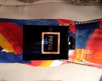 Perfume Purse with Paris Logo - Lucite
