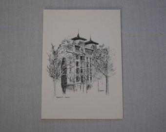 Vintage 1970's - Blank Greeting Card Serano 22, Madrid, Schutaure