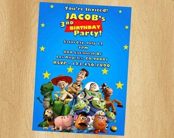 Toy Story Invitation - Printable Invitation - Digital Invite - Birthday Party - Personalized Customized Woody Buzz Lightyear Jessie