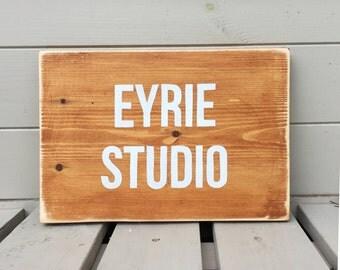 Personalised Studio Sign - Wooden