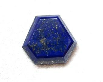 25x27.5x6 mm Natural LAPIS LAZULI Fancy Shape cabochon AAA Quality gemstone.....
