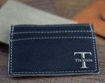 Black Wallet, Custom Money Clip Personalized Leather Money Clip Wallet, Personalized Wallet, Custom Leather Wallet, Groomsmen Gifts