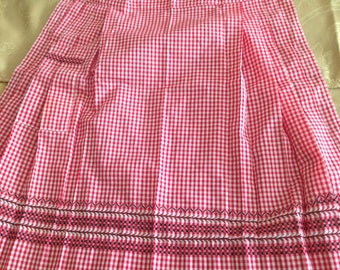 Red Gingham pron with beautiful black detailing
