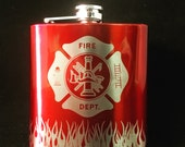 Firefighter, Fireman, Flask, Whiskey glass, Off duty, Fireman glass, Fireman gift, Paramedic, fire, firefighter wife