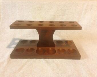 Vintage Wooden 12 Piece Pipe Rest/Holder