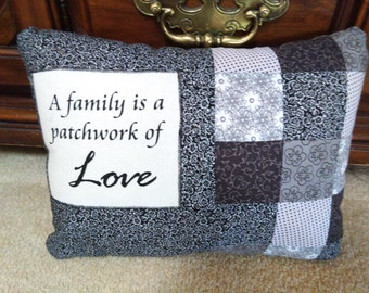 Family Patchwork Pillow