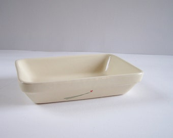 Oven dish BCI rectangular beige dish ceramic vintage Brittany Made in France