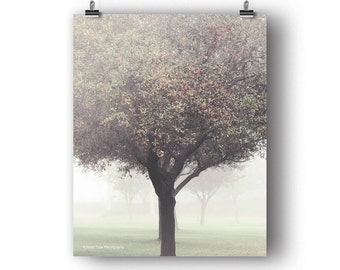 Tree Photography Print, Bedroom Wall Art Print, Wall Decor, Vertical Art, Tree Photo, Nature Photography, Autumn Print, Tree Picture