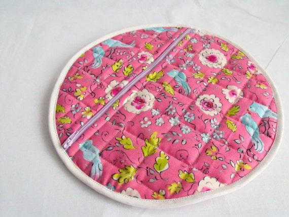 pyjama case, nighty storage pouch, nightwear bag, lingerie bag, bed wear tidy, pink cotton fabric