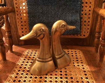"5"" Brass Duck Bookends"