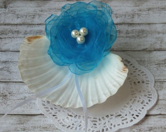 Beach Wedding ring holder, Sea shell ring holder