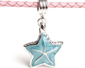 Aqua Starfish Dangle European Charm