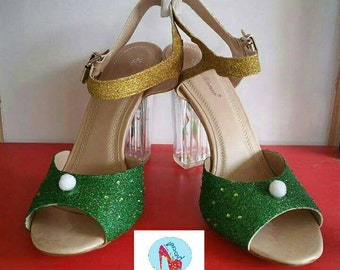 Tinkerbell and periwinkle sandals
