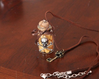 Pirate Treasure Bottle Necklace