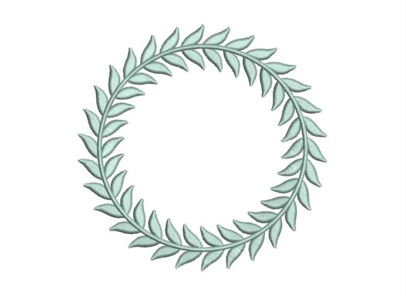 Leaf monogram frame design border style