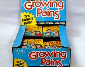 3 Packs of Vintage Topps Growing Pains Wax Pack Trading Cards 1988 Pop Culture