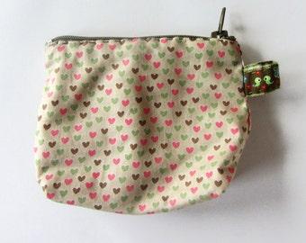 Pattern heart wallet