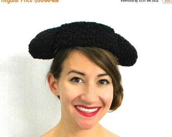 Summer SALE 40s Black Persian Lamb Matador Hat