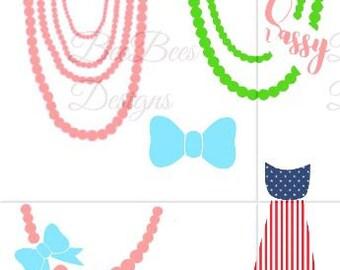 Necklace SVG, Onesie SVG, Onesie Necklace Svg, Necktie svg, bowtie svg and studio compatible file