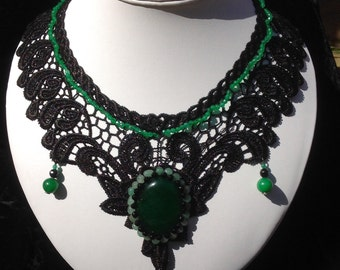 Beautiful Lace Gothic Style Necklace