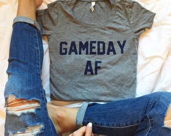 Gameday AF -Navy and Grey