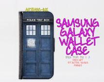 Samsung Galaxy S4 case - Samsung Galaxy S4 wallet case - Galaxy S4 case - Galaxy S4 wallet case - Tardis Samsung Galaxy S4 case