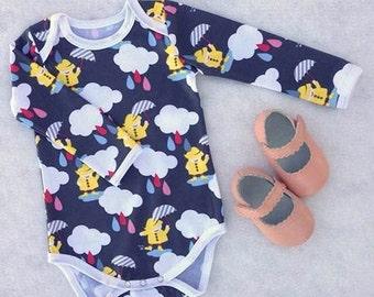 SALE Overlap Bodysuit PDF Pattern ,Fresh Stitch Patterns, Onesie, Baby Suit , Long or Short Sleeve, Sizes Preemie  to 2-3T