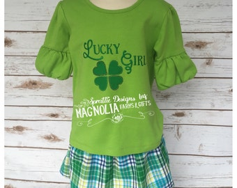 Lucky Girl! Spring & St. Patrick's Day Girl's Outfit