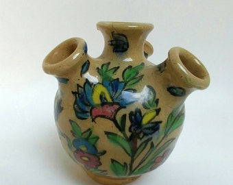 Antique Persian Qajar tulip vase